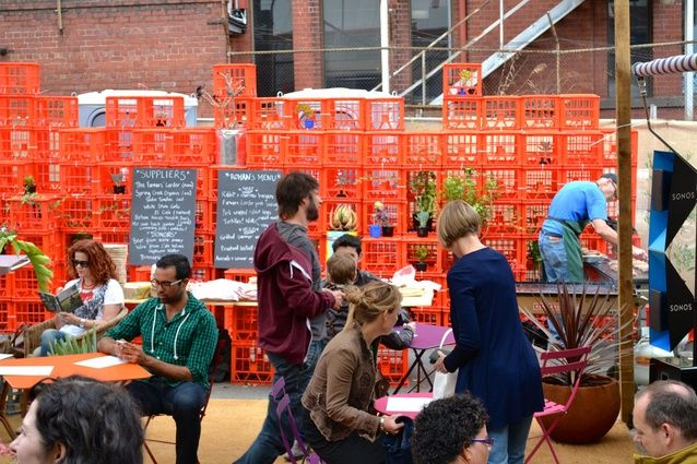A robust, recycled outdoor space at the School of Life, Collingwood.