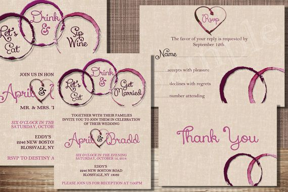 Hey, I found this really awesome Etsy listing at https://www.etsy.com/listing/190233710/5x7-wine-wedding-invitation-pack
