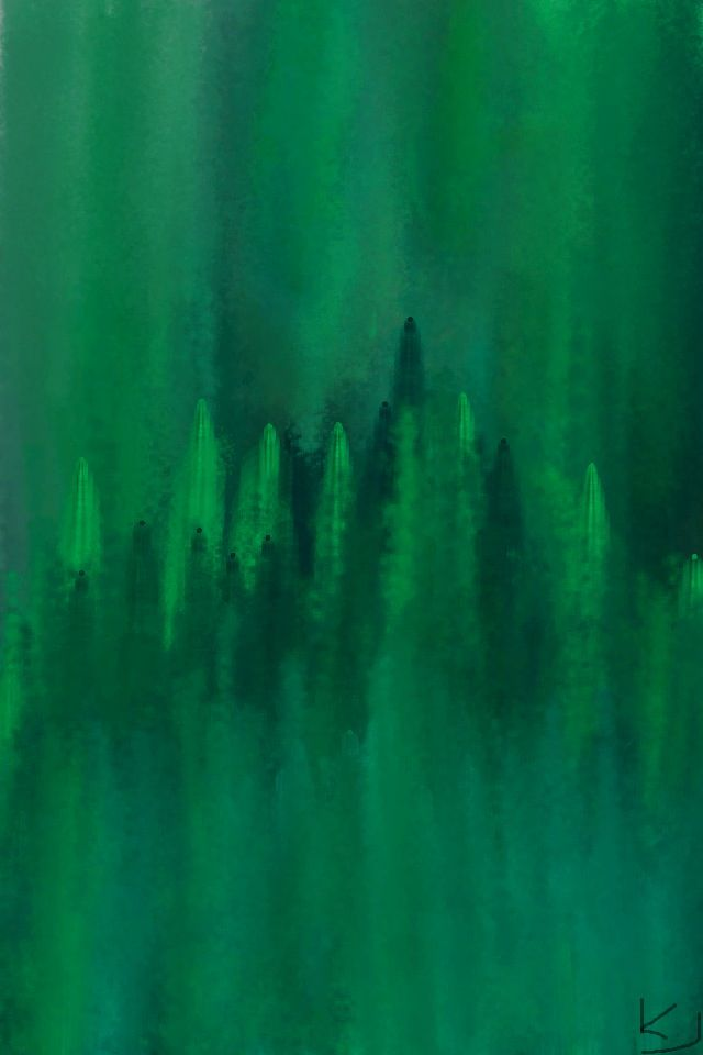 Emerald Green painting by K. Jeffries