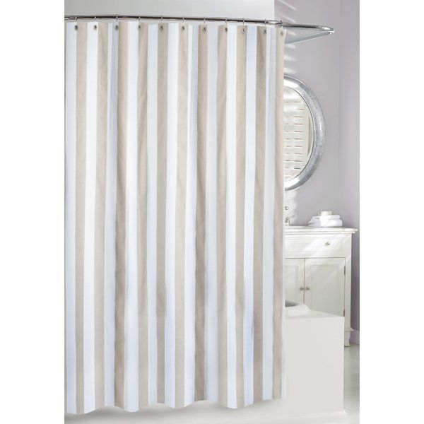 Denim Or Tan You Ll Love The Lauren Stripe Shower Curtain At Joss Main With Great De Modern Shower Curtains Fabric Shower Curtains Striped Shower Curtains