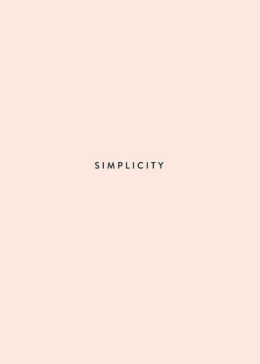 Simplicity pink, poster