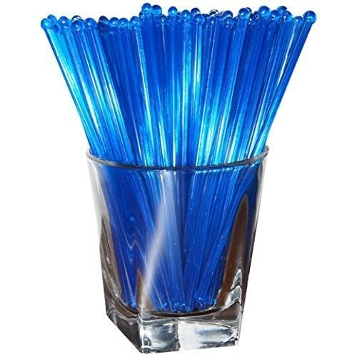 Plastic Swizzle Sticks Stirrers Set Party Drink Cocktail Mixing 48 Count Blue  #SwizzleSticks