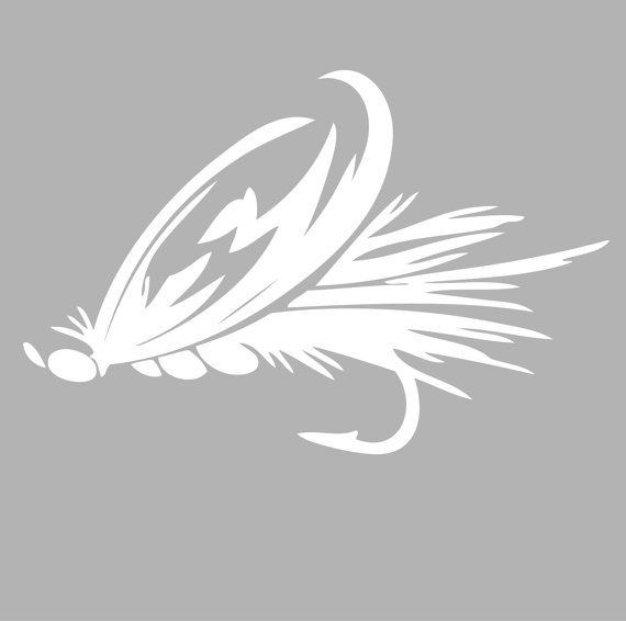 Fly Fishing Decal Sticker -  Tackle Box, Boat, Truck Vinyl Decals | 4