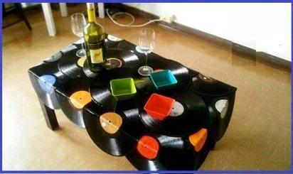 Ideas de reciclaje manualidades mesas and originals - Manualidades con discos ...