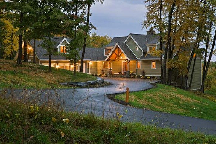 LakeView Southern Yellow Pine Timber Frame in Finger Lakes, NY