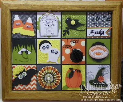 stampin up halloween by debbie henderson at debbies designs the great pumpkin blog - Stampin Up Halloween Ideas