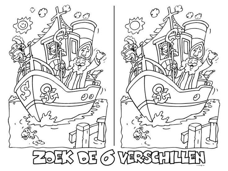 Zoek de verschillen Sinterklaas
