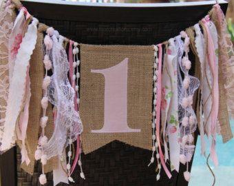 Primera trona cumpleaños de bebe Banner con por StacyLavelleDesigns