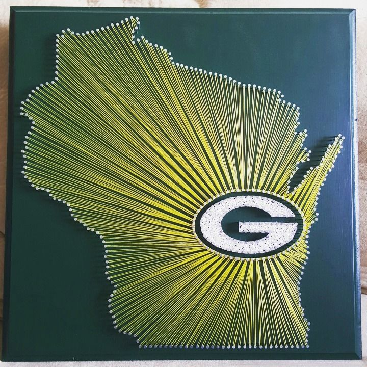 "20"" x 20"" Green Bay Packers string art"