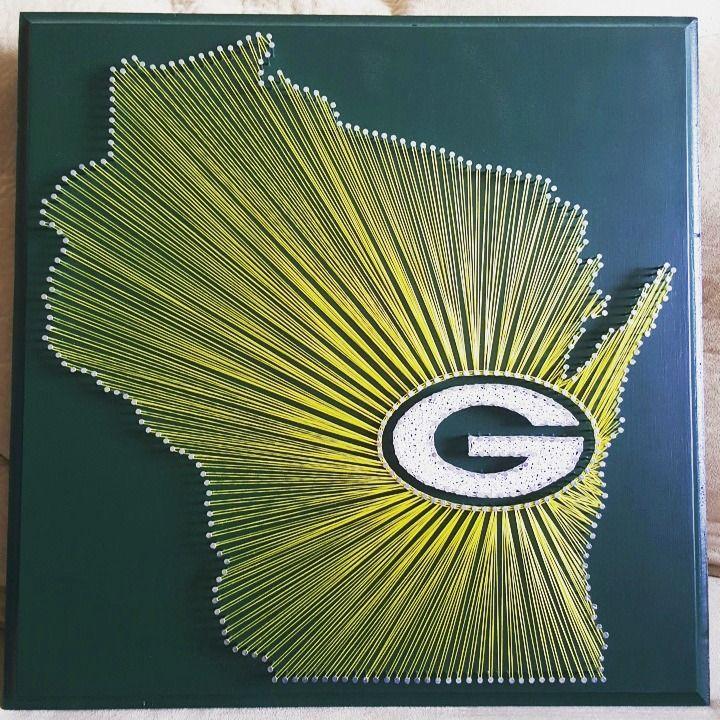 "20"" x 20"" Green Bay Packers string art"
