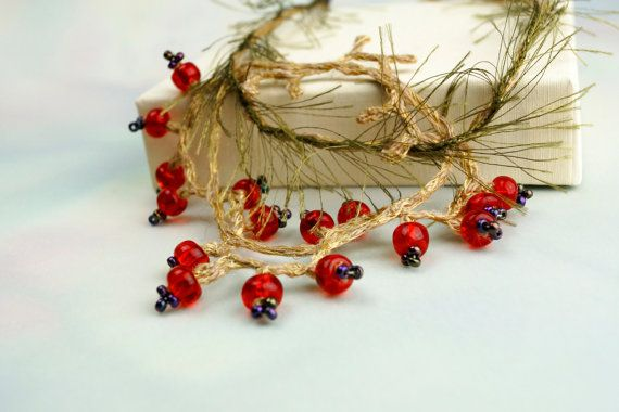 Fine Art RED  Redcurrant Delicious linen silk by FiveOClocks