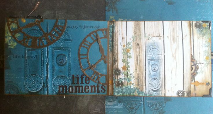 Scrapbooking: Vintage folding camera album--somewhere in time (life moments)