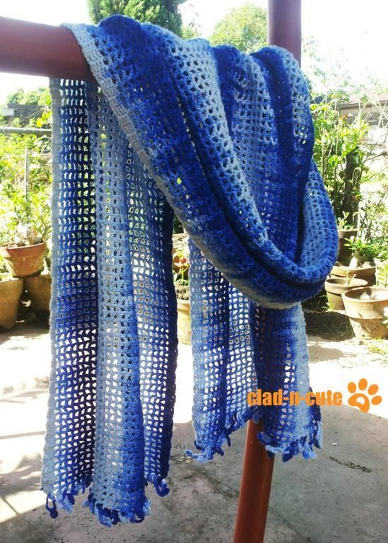 Looking for your next project? You're going to love Blue Skies Variegated Scarf by designer Kyuni786.
