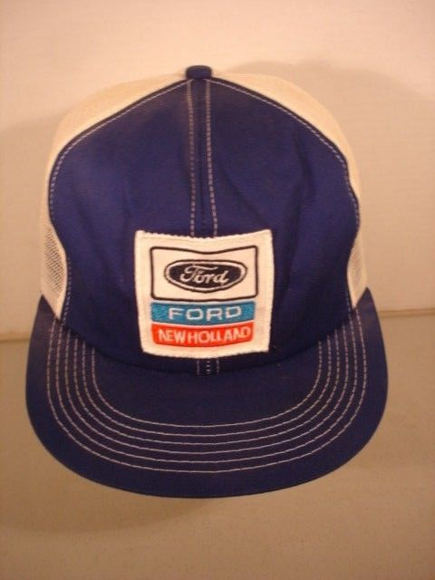 5fdc09931da VINTAGE FORD NEW HOLLAND PATCH MESH SNAP- BACK FARMER-TRUCKER HAT - K-