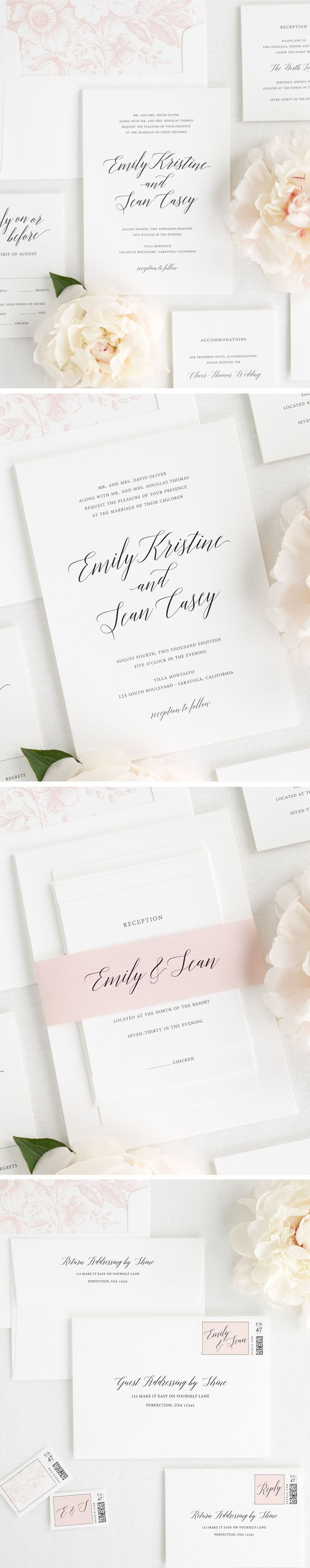 178 Best Calligraphy Wedding Stationery Images On Pinterest