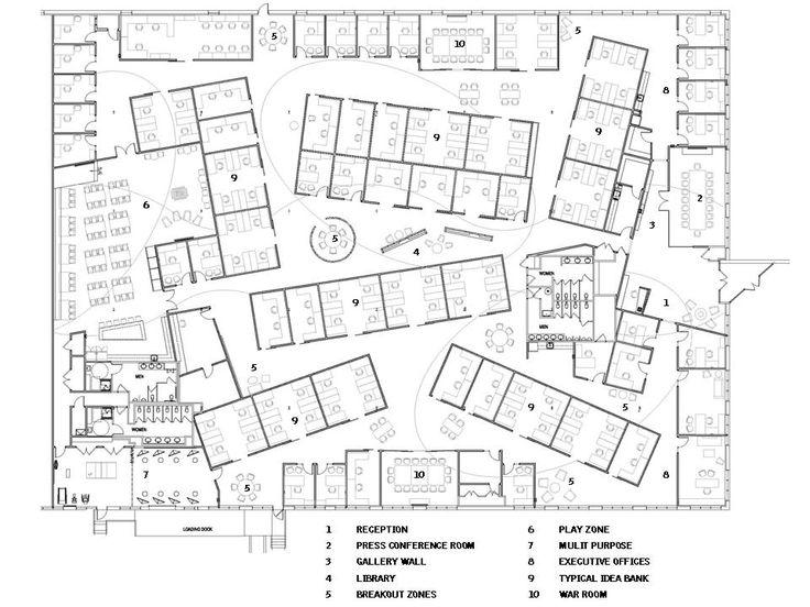 Floorplan Workplace Open Office Pinterest