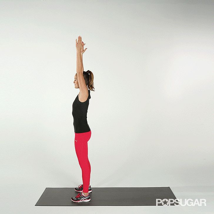 Do you know how to do a burpee? They're a fantastic all-in-one exercise for your body. Check out this gif! #womenshealth #fitness