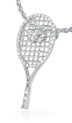 84 best tennis jewelry images on pinterest tennis sneaker and the two hearts pendant features a 925 silver tennis racquet with two overlapping hearts on the strings the tennis racquet frame and handle as well as the aloadofball Images