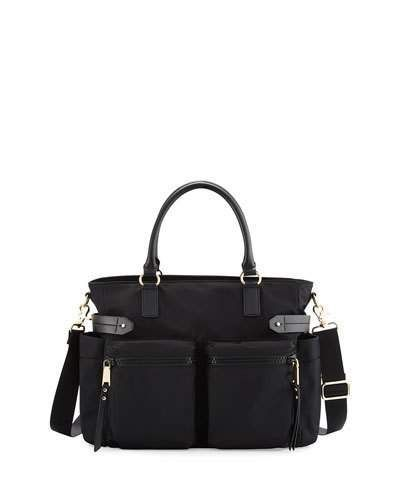 Rebecca Minkoff Zoe Nylon Diaper Bag, Black
