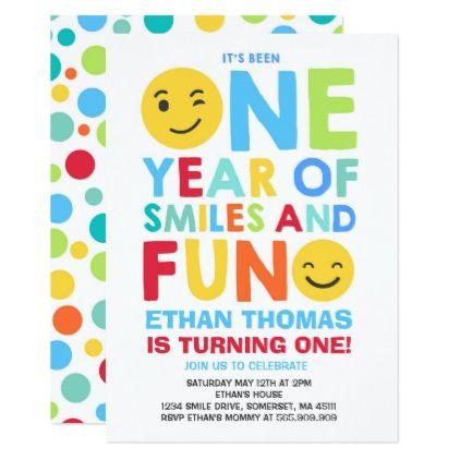 Emoji Birthday Invitation Smiley Face Party