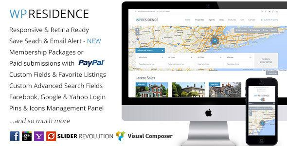 WP Residence Real Estate WordPress Theme