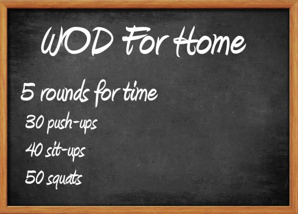 Crossfit WOD for Home