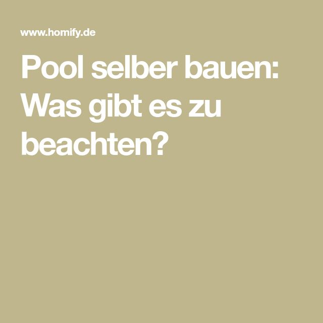pool selber bauen was gibt es zu beachten pools pool selber bauen selber bauen und baggersee. Black Bedroom Furniture Sets. Home Design Ideas