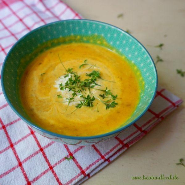 Roasted Möhren-Fenchel-Suppe mit Kresse | treatandfeed