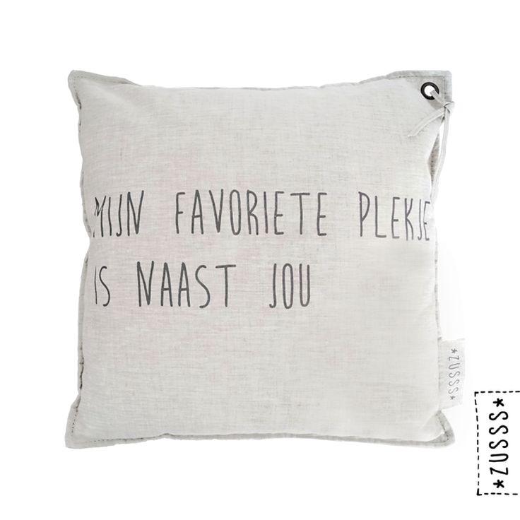 Zusss | Kussen mijn favoriete plekje | http://www.zusss.nl/product/zusss-kussen-mijn-favoriete-plekje/