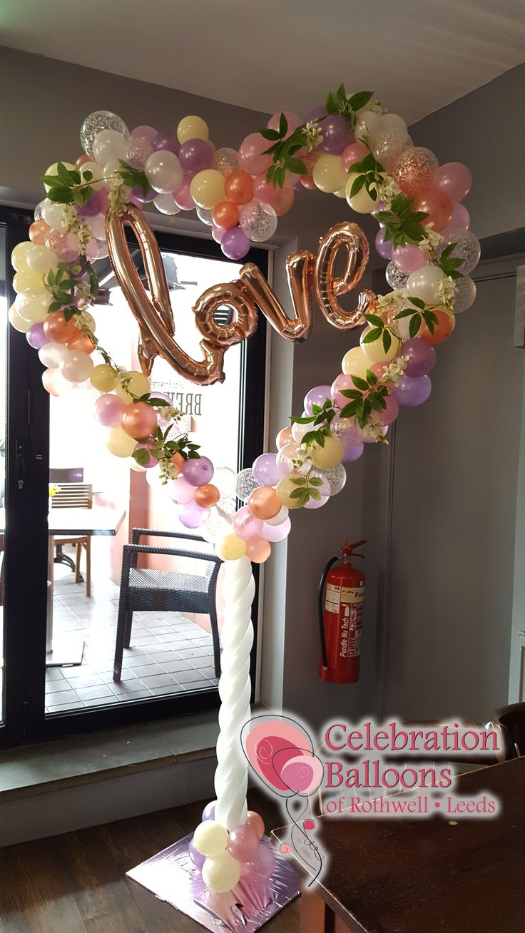 I have created many balloon displays over the years, but this beautiful organic heart is definitely my favourite so far.