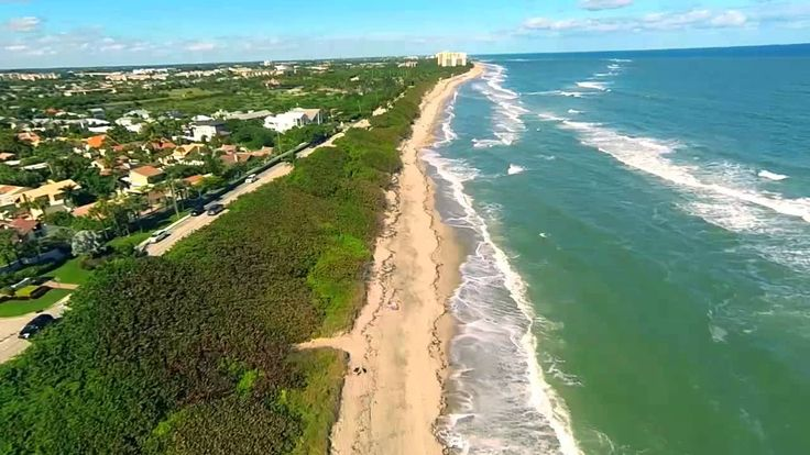 Jupiter FL Beaches, Lighthouse and Inlet Aerial Movie