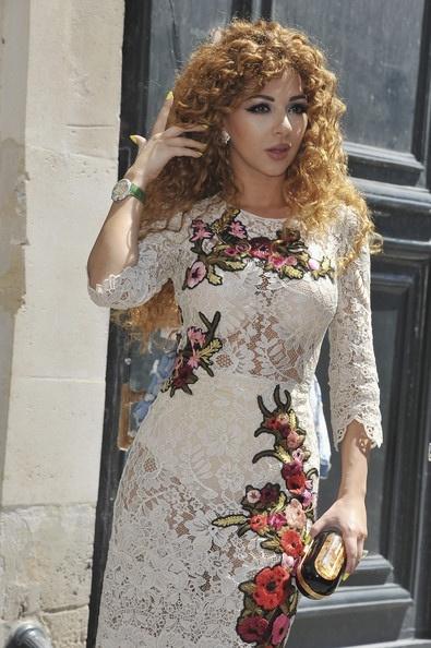 Myriam Fares in Dior