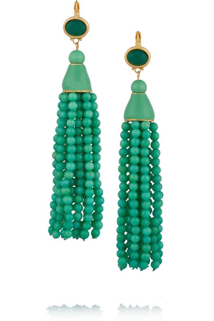 Kenneth Jay Lane Gold-plated resin earrings