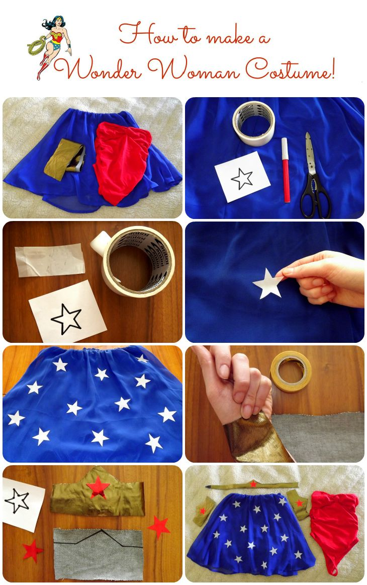 How to make a Wonder Woman Costume:  DRESS + MAKE UP | The Sparkling Cinnamon