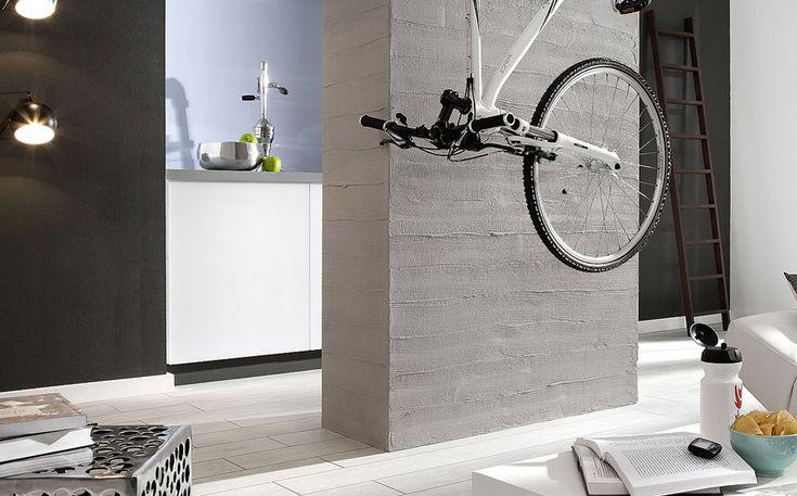 beton na ścianie / beton w salonie / beton Magnat Style