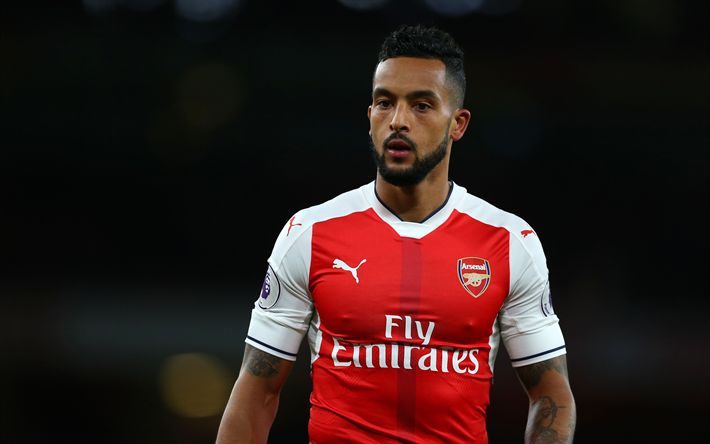 Download wallpapers Theo Walcott, 4k, Arsenal, London, English football player, Premier League, football