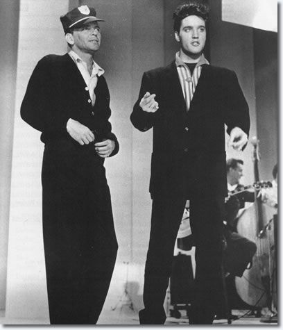 March 1960 Frank Sinatra and Elvis Presley Rehearsals for 'The Frank Sinatra Timex Special' -
