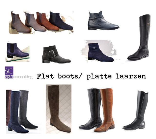"""""""Flat boots/ platte laarzen."""" by roorda on Polyvore featuring mode, women's clothing, women's fashion, women, female, woman, misses en juniors"""