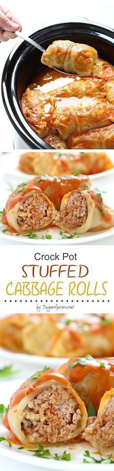 If you've never been a lover of cabbage, these crock pot stuffed cabbage rolls just may make you one. It's converted many!