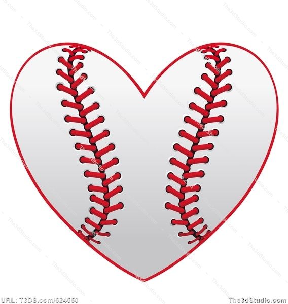 free softball clipart | Baseball heart Stock Photo Stock Image Clipart Vector