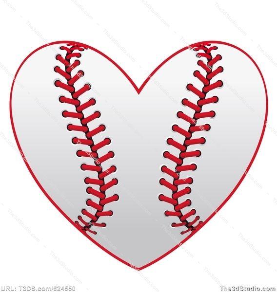 Baseball Heart Stock Photo Stock