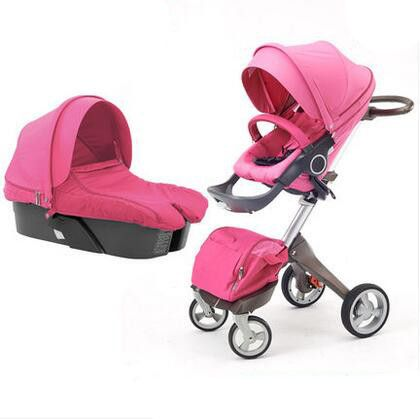 Summer Luxury Baby Stroller Car Seat Bassinet Carrycot Folding Travel System Infant Prams 3 In 1 Doll Toy Pushchair Jogger Buggy