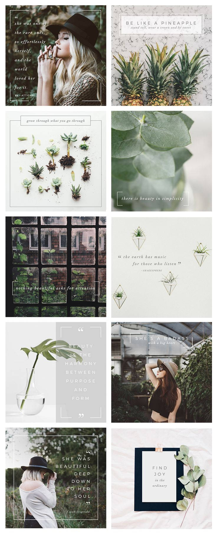 10 FREE INSTAGRAM IMAGES! Perfect for natural beauty brands or every day inspiration!  This bundle would be a great match for your personal or commercial needs: perfect for bloggers, fashion and beauty brands, magazines and so much more!  This social media bundle includes 10 templates designed natively for Instagram. However, You can also use the design on your Twitter, LinkedIn, Blog etc. These files aren't only set to be used with a specific media!