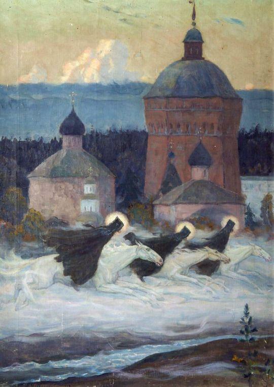 Михаил Нестеров - Всадники (Легенда). 1932