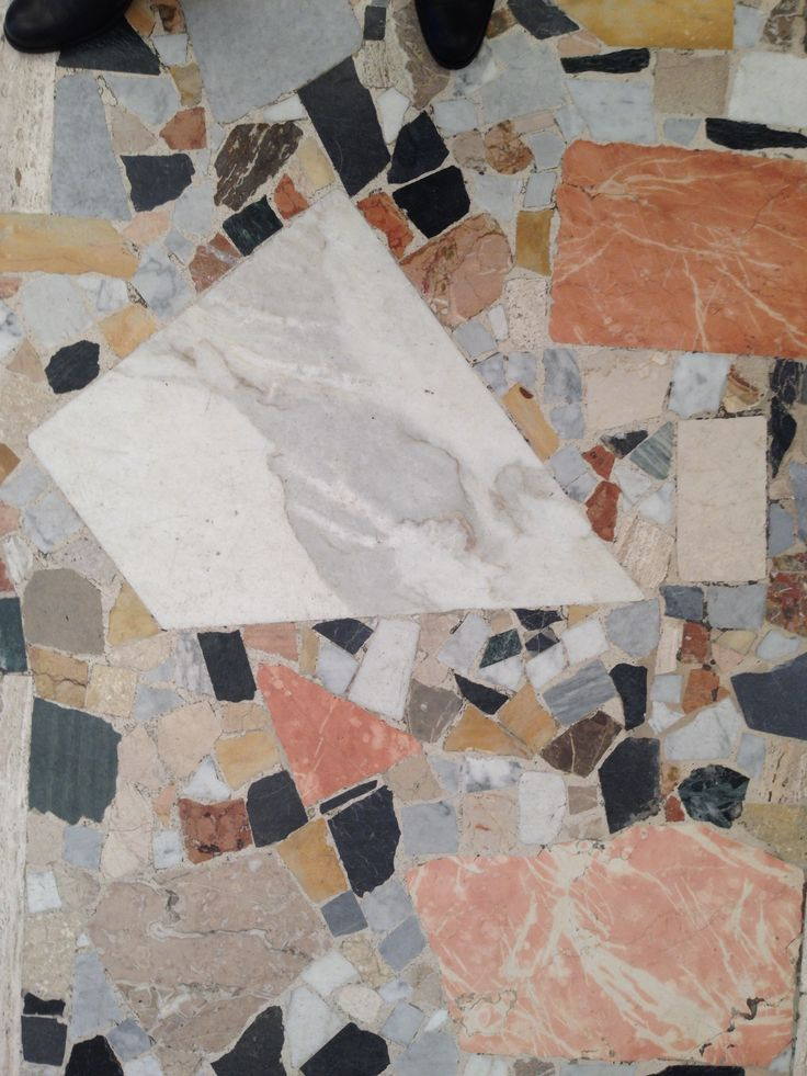 Italian palladiana marble floor. Contemporary re-interpretation. Chic.