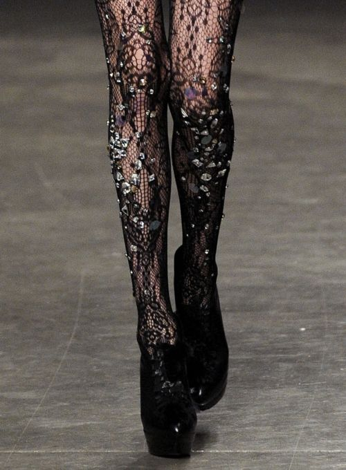 lace and crystal hosiery - must be KILLER to get on!
