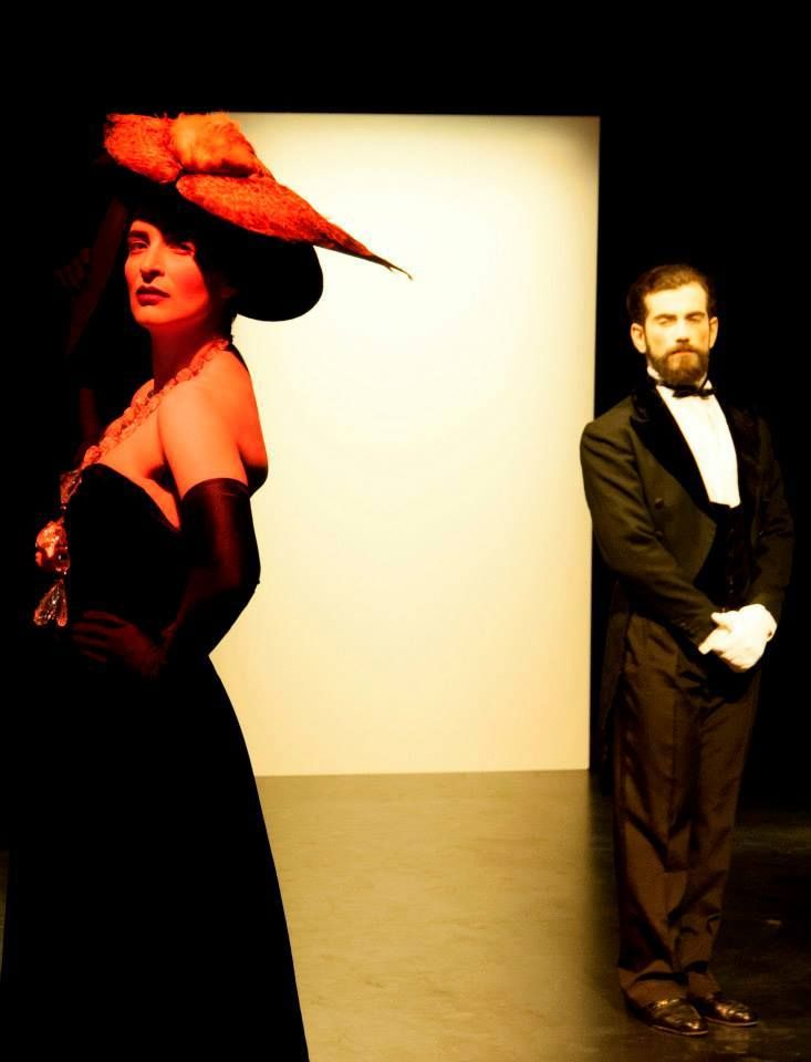 Kondylatos jewels featured @ «ΣΑΡΒΙΛ» theatre play «ΣΑΡΛΒΙΛ» theatre play @ Michalis Kakogiannis Foundation Antigone Gitana wears Zoulias GARMENTS & Kondylatos Necklace