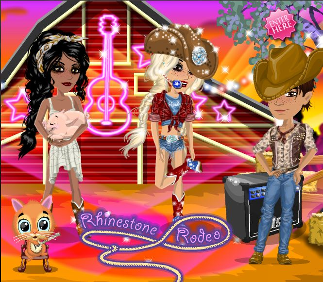 Rhinestone Rodeo theme over at #moviestarplanet #MSP www.moviestarplanet.com