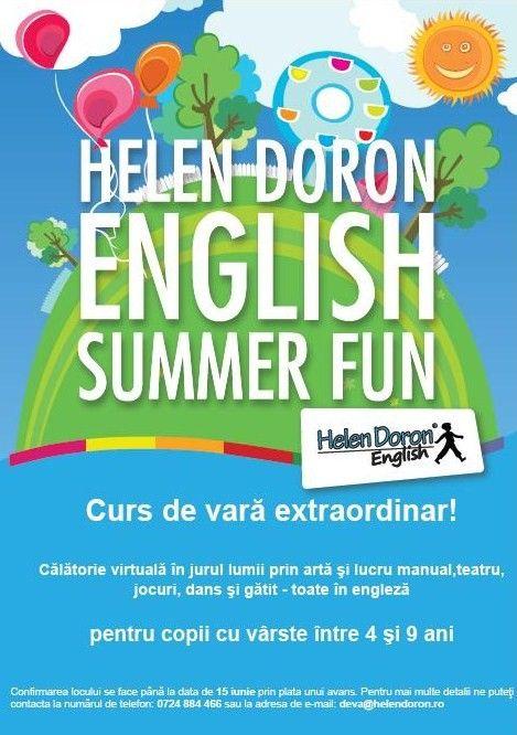 Nu ratați șansa unică din orașul dumneavoastră! Pentru copilul tău suntem distracție, pentru tine educație!  Curs de vară senzațional pentru copii cu vârste cuprinse între 4 și 9 ani! Copiii vor face o călătorie virtuală în jurul lumii prin diferite lucrări confecționate manual, prin teatru, jocuri, dans și gătit, toate în limba engleză.  Durata cursului este de 2 săptămâni (I iulie- 15 Iulie), de luni până vineri, de la ora 9:00 la ora 13:00.