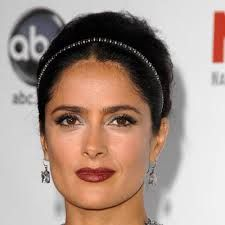 Image result for chocolate brown hair + salma hayek